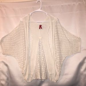 Women's Red Camel Beige Open Knit shrug Medium
